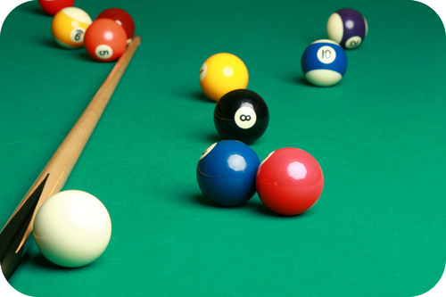 Billiards involves collisions in two dimensions