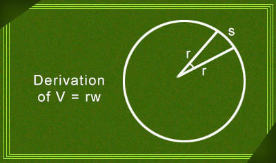 Derivation of v=rw