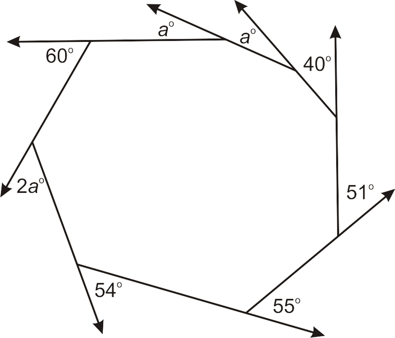 Exterior angles of a polygon worksheet stinksnthings for Exterior angles of a polygon