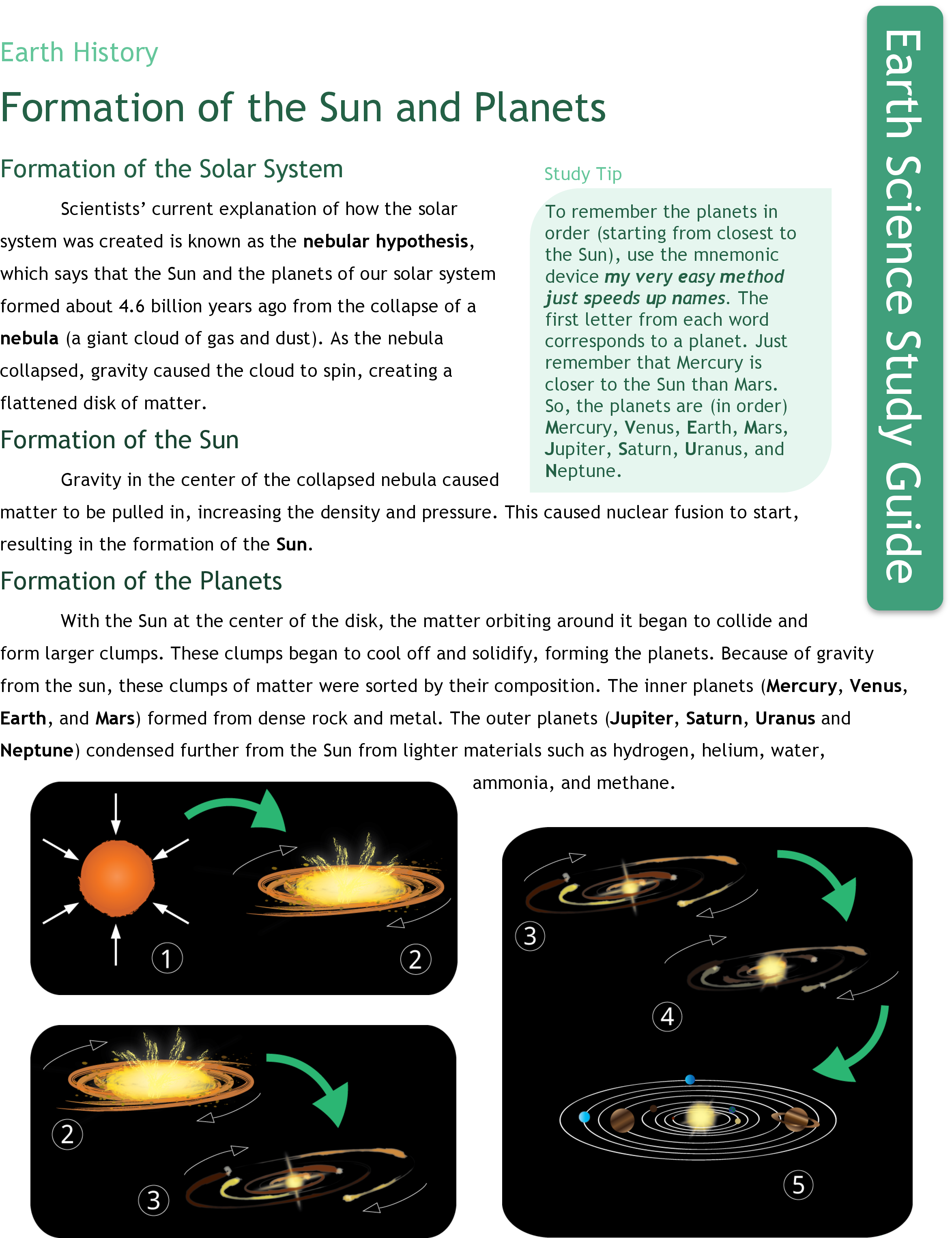 Formation Of The Sun And Planets Ck 12 Foundation