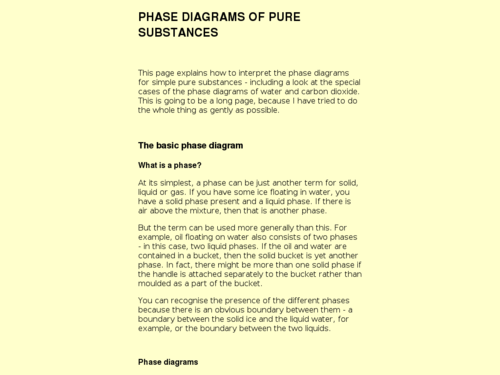 Phase Diagrams of Pure Substances
