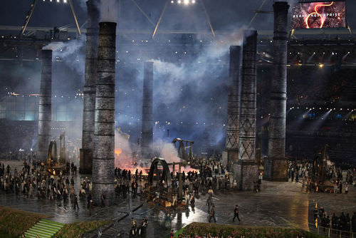 Representation of the Industrial Revolution during the 2012 London Olympic Games