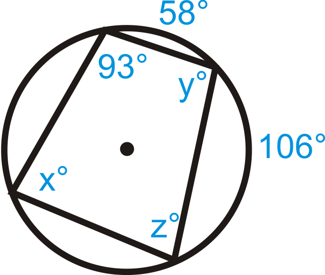 Inscribed Quadrilaterals in Circles ( Read )   Geometry ...