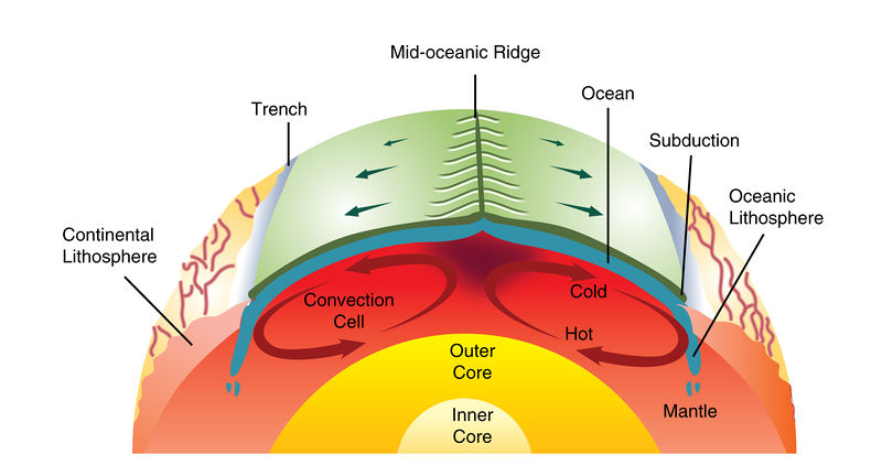 Mantle convection drives plate tectonics