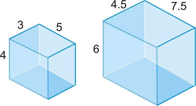 Area and volume of similar solids read geometry ck 12 are the two rectangular prisms similar how do you know ccuart Images