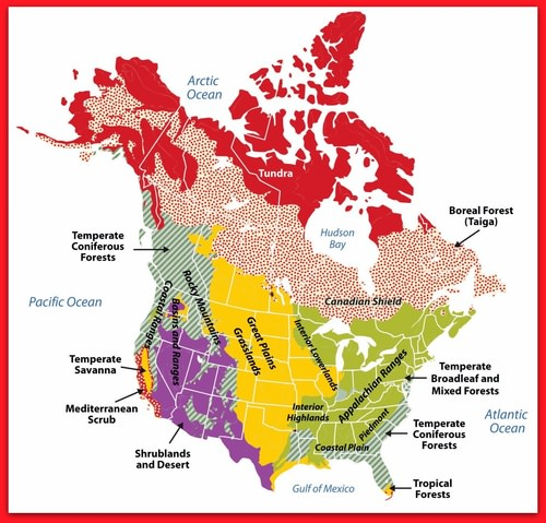 Physical Geography of North America | CK-12 Foundation