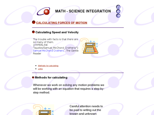 Calculating Forces of Motion