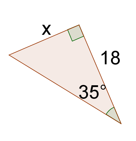 how to find x in tangent ratios