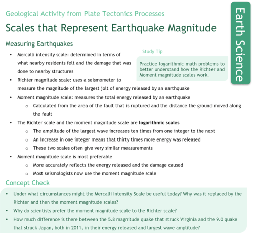 Measuring Earthquake Magnitude   CK    Foundation Los Angeles Times