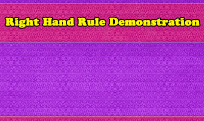 Right Hand Rule Demonstration