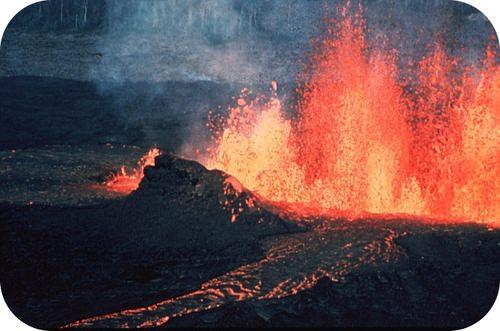 Lava erupting from Kilauea volcano