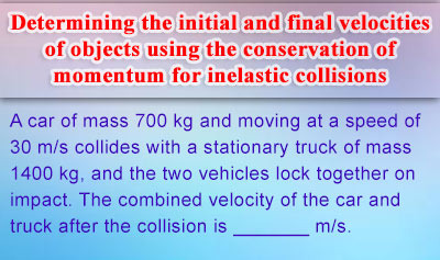 Conservation of Linear Momentum - Example 1