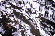 A landslide in a neighborhood in Anchorage, Alaska, after the 1964 Great Alaska earthquake
