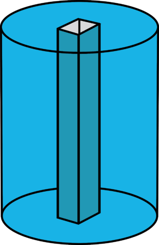 Volume of water in a column