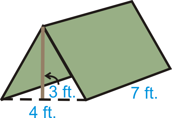 Ex&le 5. You have a small triangular prism-shaped tent.  sc 1 st  cK-12 & Prisms | CK-12 Foundation