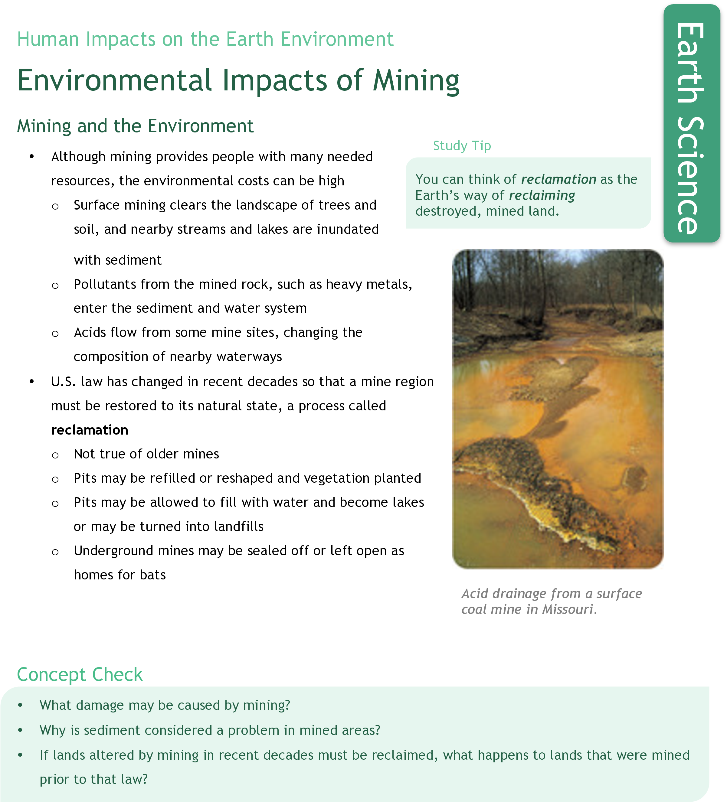 Environmental Impacts of Mining | CK-12 Foundation