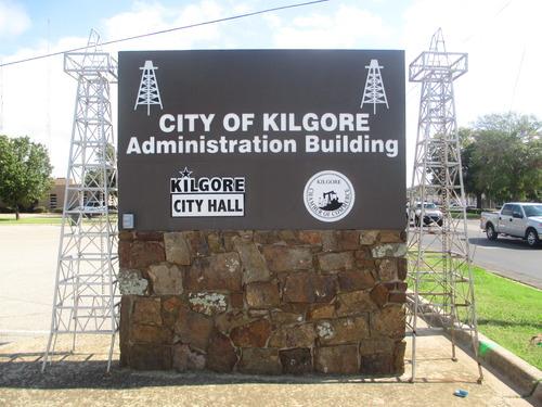 Kilgore TX City Hall Sign
