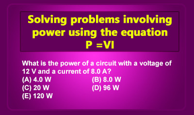 Power (Electromagnetism) - Example 1