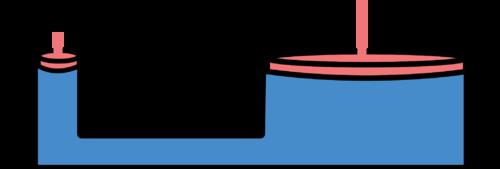 Diagram of a hydraulic mechanism