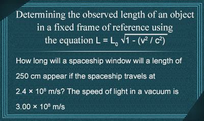 The Relativity of Length - Example 2