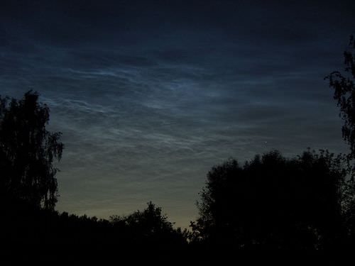 Noctilucent clouds in the mesosphere