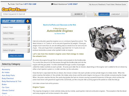 A Short Course on Automobile Engines