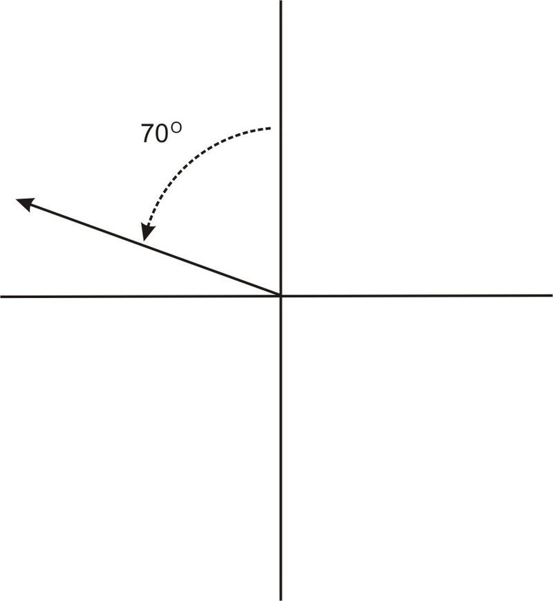 how to find the bearing of a right angles triangle