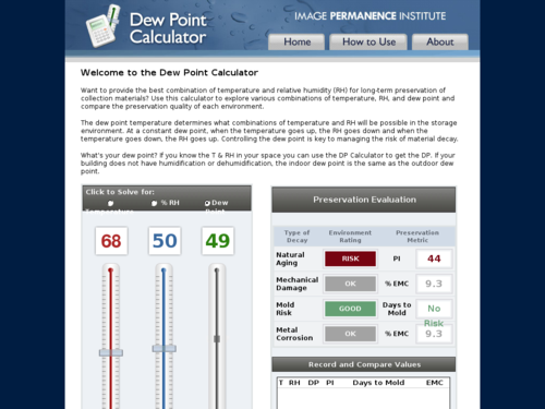 Dew Point Calculator