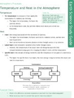 Temperature and Heat in the Atmosphere  Study Guide