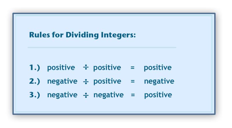 Dividing Integers | CK-12 Foundation