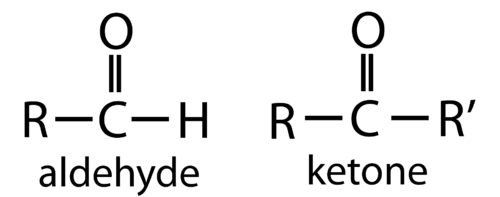 Structure of aldehydes and ketones