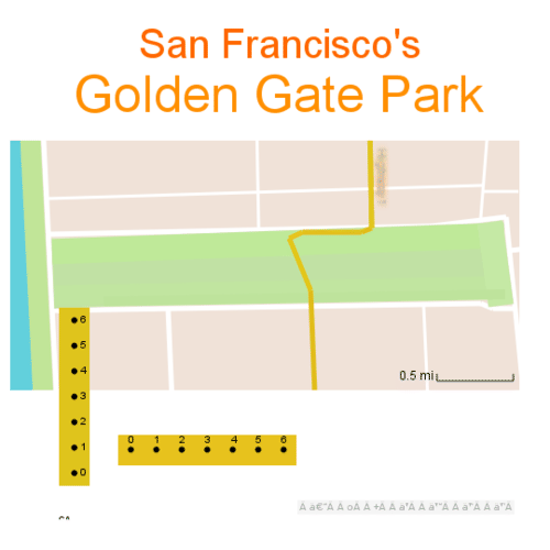 Reading Maps, LegendsScale: Golden Gate Park