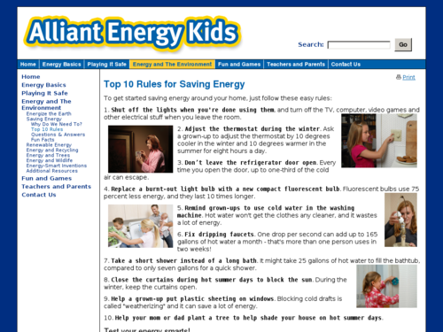 Top 10 Rules for Saving Energy