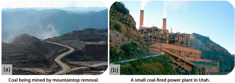 Coal being mined by mountaintop removal