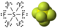 Sulfur hexachloride has an expanded octet