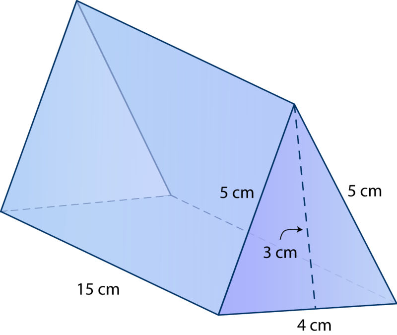 Surface Area Of Triangular Prisms Ck 12 Foundation