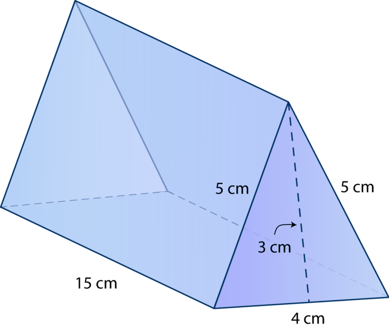 Surface Area of Triangular Prisms – Surface Area Nets Worksheet