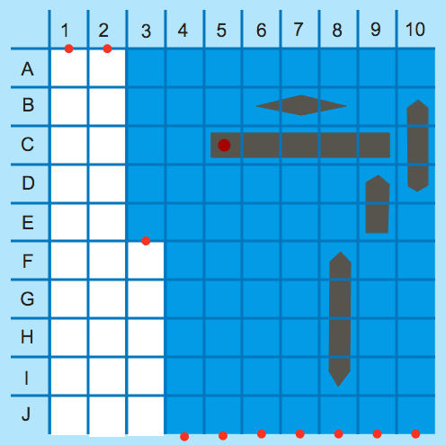 Numbers with Decimal Place Value: Battleship Decimals