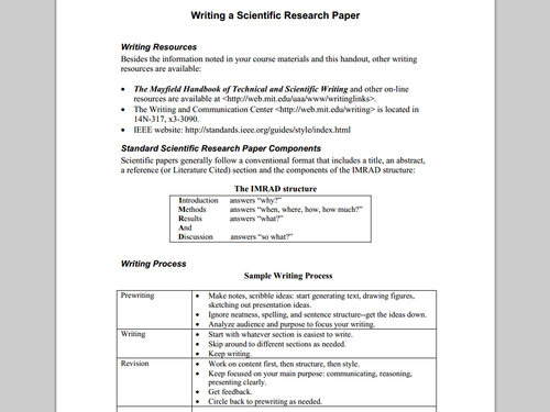 How to Write a Scientific Research Paper