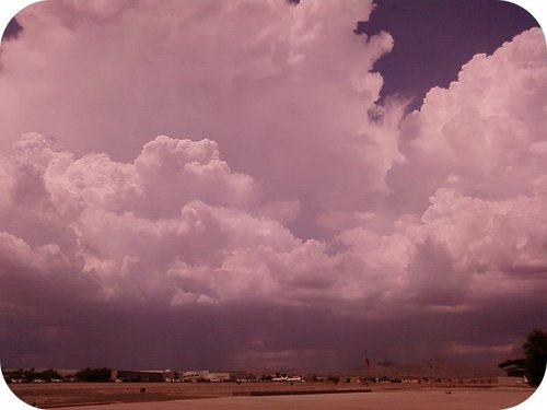 Picture of a monsoon in the southwestern United States