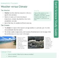 Weather versus Climate Study Guide