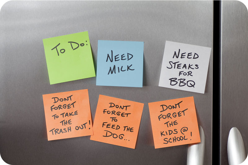 Image result for notes on the fridge