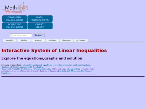 Interactive System of Linear Inequalities