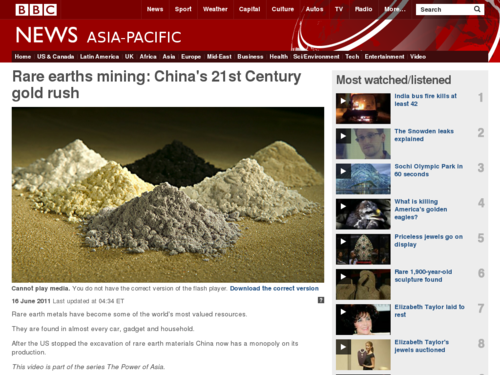 Rare Earths Mining: China's 21st Century Gold Rush