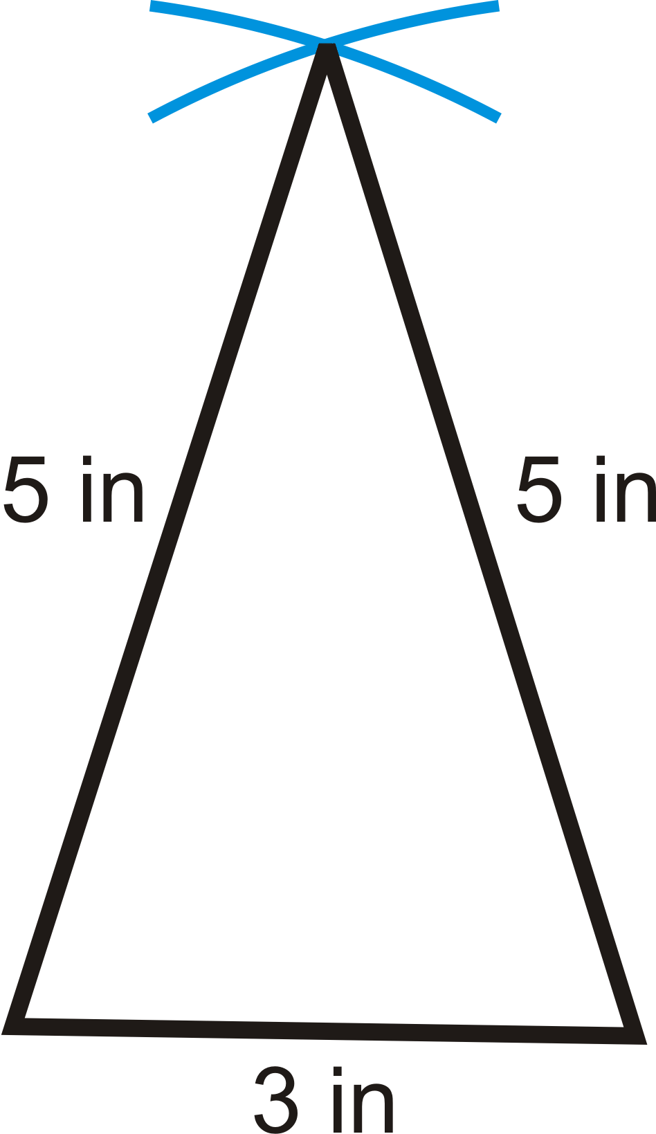 how to use a protractor to draw a triangle