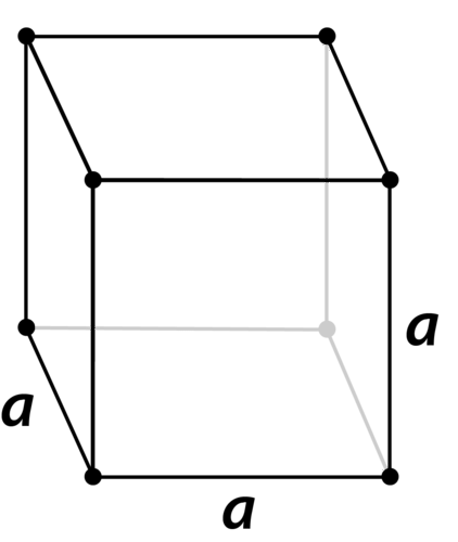 Structure of a cubic crystal