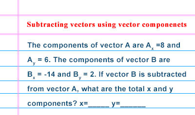 Vector Operations Using Components - Example 2
