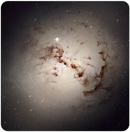 Dusty elliptical galaxies may have been formed when two galaxies of similar size collide