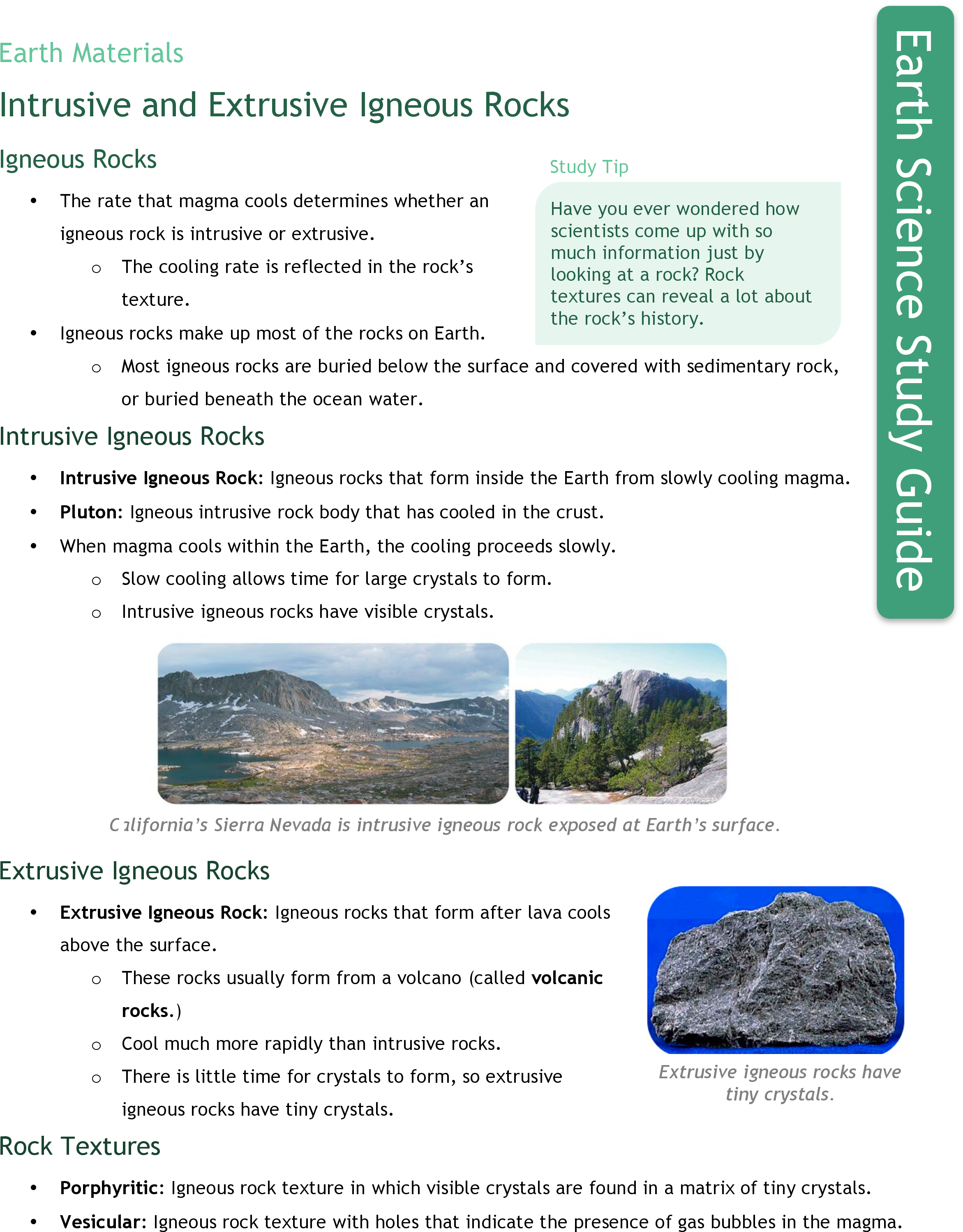 worksheet Igneous Rocks Worksheet intrusive and extrusive igneous rocks ck 12 foundation study guide