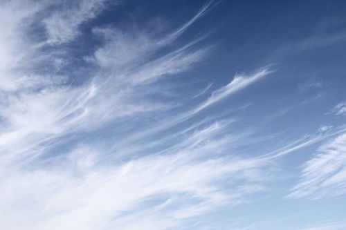 Cirrus clouds form from deposition